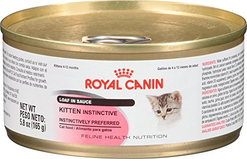 Royal Canin Kitten Instinctive Loaf In Sauce Canned Cat Food, 5.8-Ounce, Case Of 24