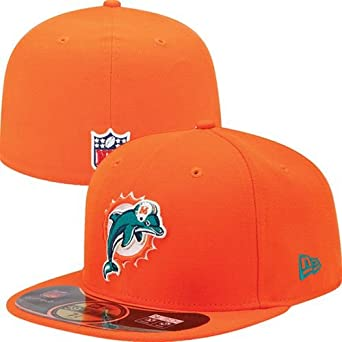 NFL Child Miami Dolphins On Field 5950 Orange Game Cap By New Era by New Era