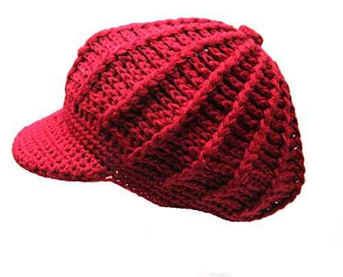 Crispy-Women-Winter-Warm-Knit-Hat-Snow-Ski-Caps-With-Visor-Selection