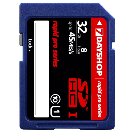 7dayshop Rapid-Pro Carte mémoire SDHC UHS Classe 10 45 Mo/s 32 Go