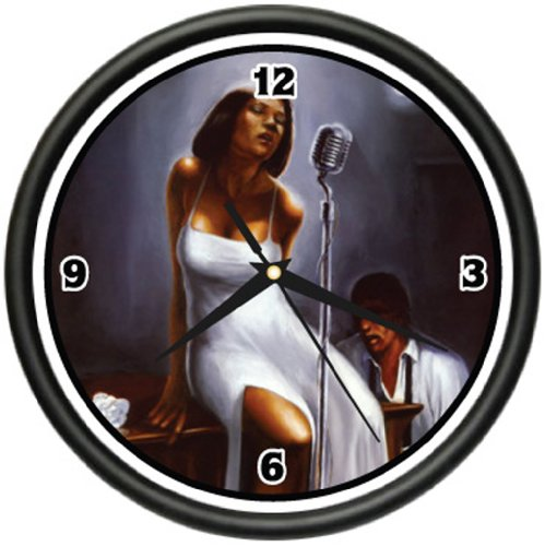 BLUES CLUB Wall Clock music lounge singer decor gift