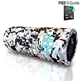 Foam Roller by CORE Trigger Point Self Massage and Muscle Knot Release Therapy Ideal Tool for All Sports Massage and Dual Action Zone Provides Deep Tissue Massage, Myofascial Release and Muscle Pain and Stiffness Relief EVA Foam Roller FREE - Com