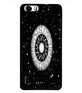 PrintDhaba Zodiac Wheel D-4812 Back Case Cover for HUAWEI HONOR 6 (Multi-Coloured)