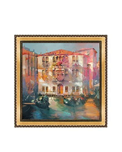"Alex Bertaina ""Ti Amo Venezia"" Framed Canvas Print"
