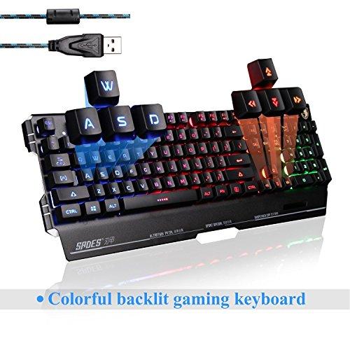 SADES Gaming Keyboards K8 Blademail PC Gaming Tastiere 19 tasti non-conflitto Materiale del metallo (nero)