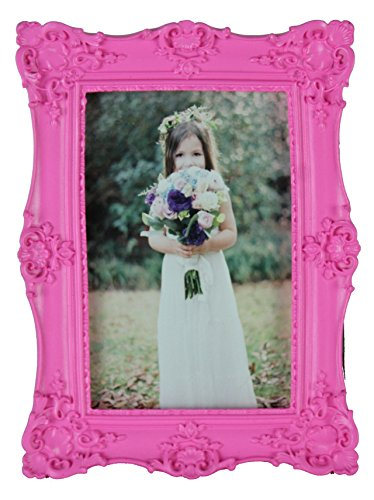 Kingwin Resin 4 By 6 Inch Photo Frame (Rose ) (Pink Picture Frame compare prices)