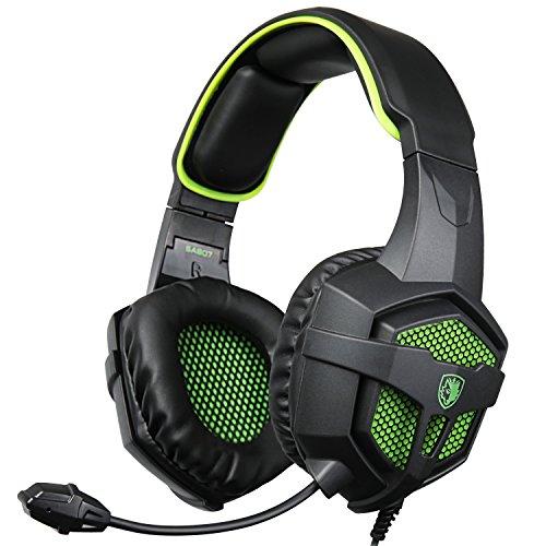 SADES SA807 Gaming Headsets Multi-Platform Headphones For New Xbox one PS4 PC Laptop Mac iPad iPod (Black&Green)