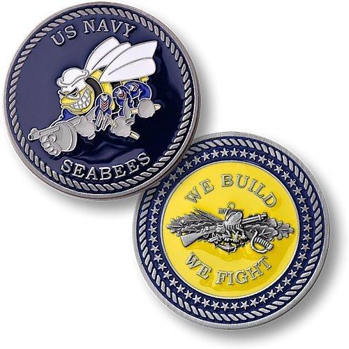 Navy Seabees - Enamel