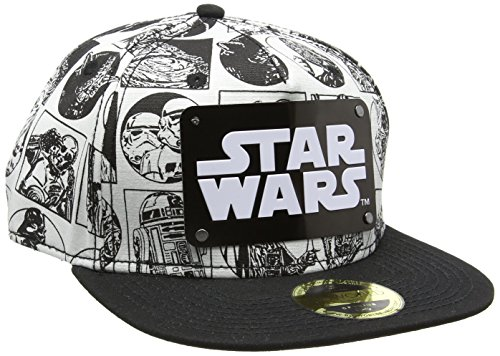 Star Wars Comic Style with Metal Plate Logo Snapback Cap nero/bianco