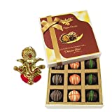 Chocholik Belgium Chocolates - 9pc Ultimate Assorted Collection Of Chocolate With Ganesha Idol - Diwali Gifts