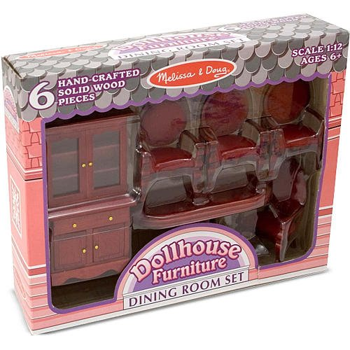 Melissa Doug Dollhouse Dining Room Furniture front-668968