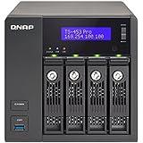 QNAP TS-453 Pro-8G-43R 12TB Desktop iSCSI/NAS, 4-bay Intel Celeron, 8GB RAM, Raw 12TB (4x3TB NAS Drive) ( TS-453 Pro-8G-43R-US)