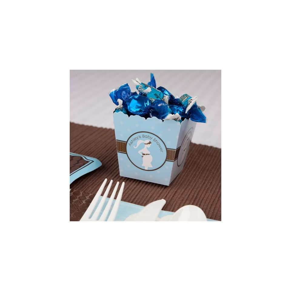 Mommy Silhouette Its A Boy   Personalized Baby Shower Candy Boxes