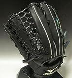 ミズノ(MIZUNO)2011年一般軟式イチローモデルプロフェッショナル外野手用2GN3030709H:ブラック左投げサイズ:13