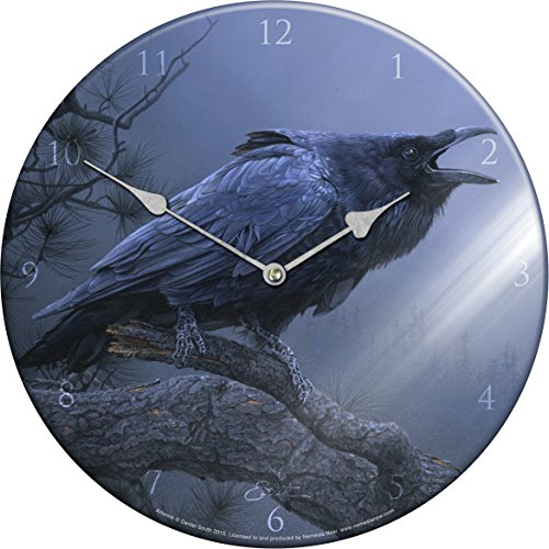 CRY UCCELLI DEL CORVO-OROLOGIO IN VETRO, 34 CM, DANIEL SMITH-NEMESIS NOW