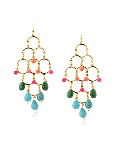 Helene Fiesta Stone Chandelier Earrings
