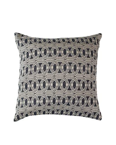 Bandhini Homewear Design Barrel Weave Throw Pillow, Black/Beige