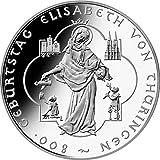 "10 Euro moneda conmemorativa ""800. Geb. der Hl. Elisabeth von Thüri"" (Jäger: 532) FDC"