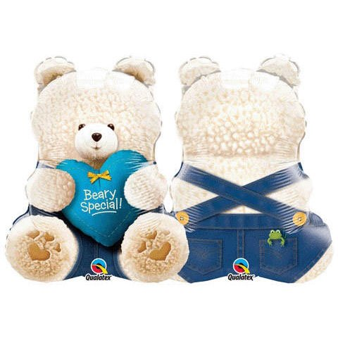 24 Inch Beary Special Boy Bear Supershape Balloons - 1