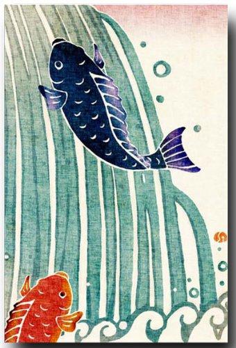 和风イラスト ポストカード 鲤 日式插画明信片鲤鱼