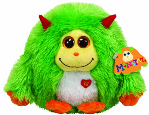 TY Monstaz Maxine Plush Toy GREEN - 1