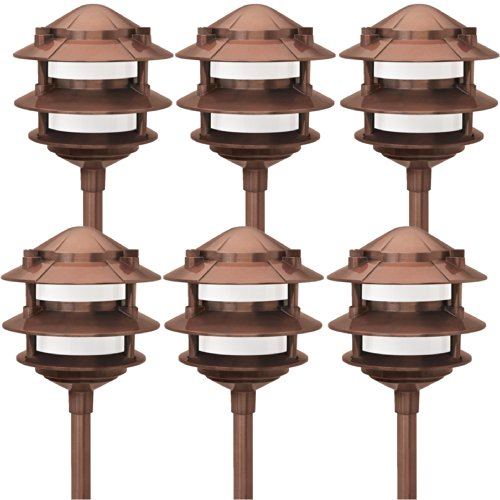 Low Voltage Landscape Lighting Copper : Paradise gl low voltage cast aluminum w path light