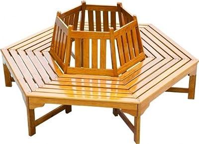Garden Pleasure 960354 Baumbank aus Berangan, lackiert, 6-eckig von Garden Pleasure auf Gartenmöbel von Du und Dein Garten