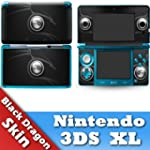 Nintendo 3DS XL Skin Black Dragon Mod...