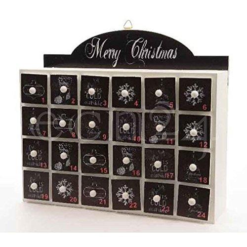 Adventskalender im Tafeldesign mit 24 Schubladen zum Hängen oder Stellen thumbnail