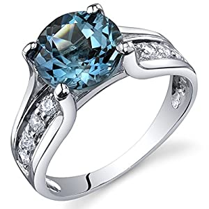 Amazon.com: London Blue Topaz Solitaire Style Ring Sterling Silver 2