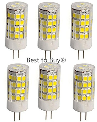 Best to Buy® (6-pack) T4 G5.3 Type LED Halogen Replacement Bulb, AC 120 Volts , Desk Lamps, Dustproof Protection IP55, 350 Lumens, 35W Equivalent, Daylight White 5000K (Not Dimmable)