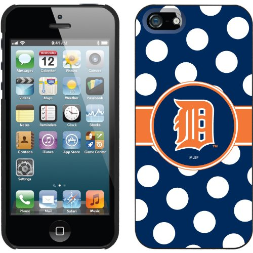 Special Sale Detroit Tigers - Polka Dots design on a Black iPhone 5s / 5 Thinshield Snap-On Case by Coveroo