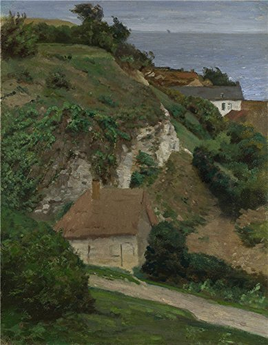'Antoine Chintreuil House On The Cliffs Near Fcamp ' Oil Painting, 10 X 13 Inch / 25 X 33 Cm ,printed On Perfect Effect Canvas ,this Amazing Art Decorative Prints On Canvas Is Perfectly Suitalbe For Foyer Gallery Art And Home Decor And Gifts (Cliff House Poster compare prices)