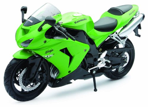 New Ray Toys Die-cast Replica Zx10r 06 Bike Grn 1:12 42443a - 1