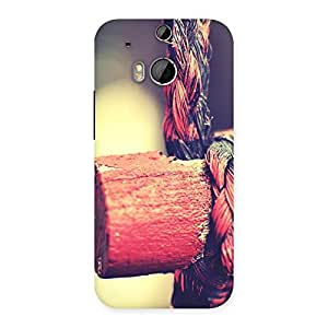 Rope on Bamboo Back Case Cover for HTC One M8