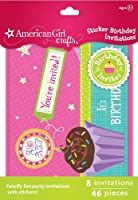 American Girl Crafts Sticker Birthday Invitations by EKSuccessBrands