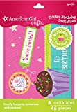 American Girl Crafts Sticker Birthday Invitations