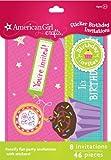 American Girl Crafts Sticker Birthday Invitations