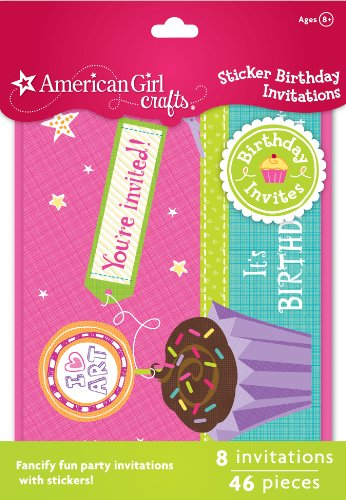 Great Features Of American Girl Crafts Sticker Birthday Invitations