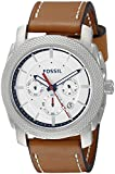 Fossil Men's FS5063 Machine Stainless Steel Watch with Brown-Leather Band