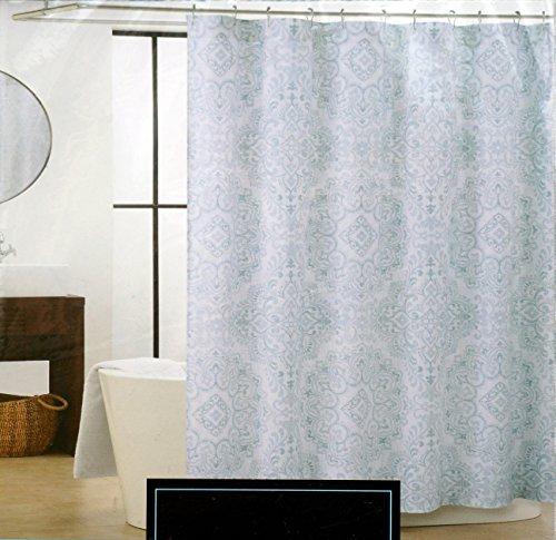 Cynthia Rowley Fabric Shower Curtain Light Blue Medallion