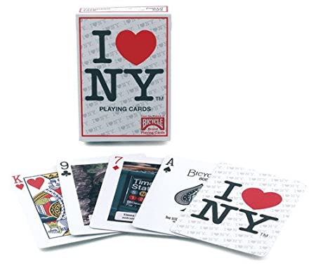 top deck cards  Bicycle I Love NY Playing Cards