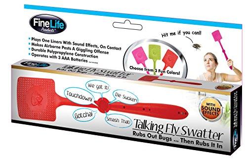 6 Pack Talking Hand Fly Swatter Novelty Prank Practical Joke Stocking Stuffer Christmas Toy Kids Adults