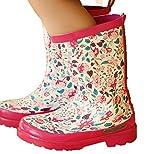 [ゼンアン]ZENAN 長靴 レインブーツ キッズ 子供 女の子 雨の日も楽しくなる!   ピンク 20.5cm