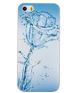 Unendlich U Schmuck besten Willkommen Geschenk Unique Painting Blau Rose im Wasser mit Handy Schutz Hülle für iPhone 5/5S