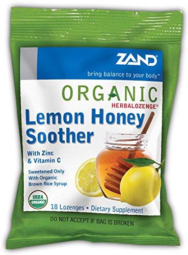 Zand - Herbalozenge Organic Lemon Honey Soother With Zinc & Vitamin C Lemon Flavor - 18 Lozenges
