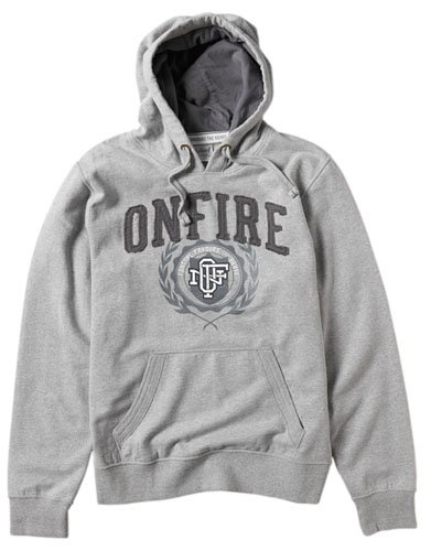 Onfire Mens Hoody Grey Marl Size Small
