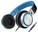 Sound Intone Ms200 La gran música en el teléfono del receptor de cabeza auriculares auricular bajo pesado equipo auricular plegar los auriculares de juegos para dispositivos iPhone y Android 6colores (Negro \ azul)