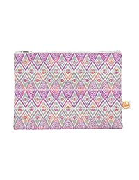 Kess In House Soft Petal Tribal Everything Bag Flat Pouch By Pom Graphic Design, 8.5 X 6 Inches (Pg1028 Aep01)