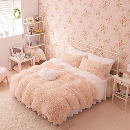 Cheapest! Camel And White Duvet Cover Set Princess Bedding Girls